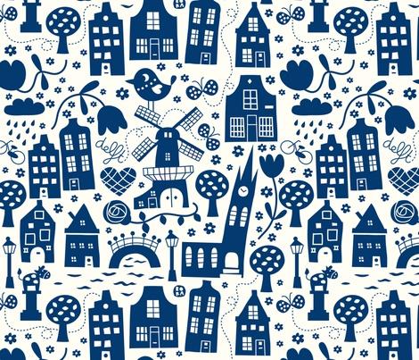 Dutch fabric love!  fabric by bora on Spoonflower