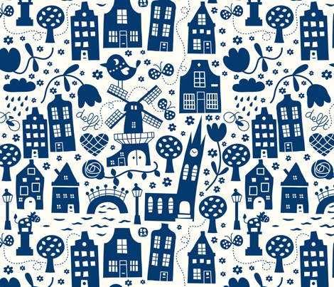 Dutch fabric love!  fabric by bora on Spoonflower: