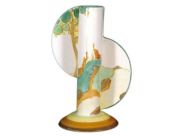 Clarice Cliff 'Secrets' pattern Bizarre tube vase, shape