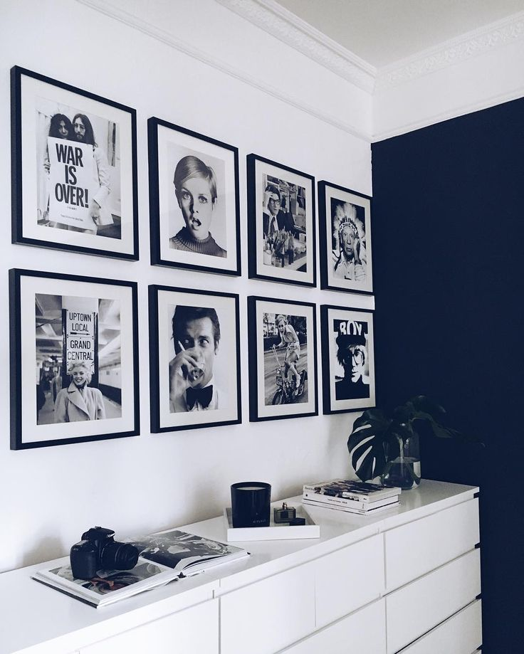 IKEA MALM _ #homeoffice inspired by @lenaterlutter's iconic #framewall #interior
