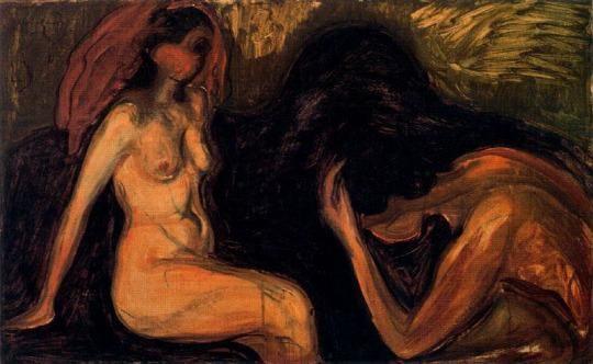 Man and Woman ~ Edvard Munch