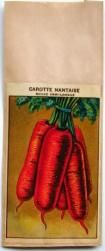 French Vegetable Seed Packet, Carotte Nantaise