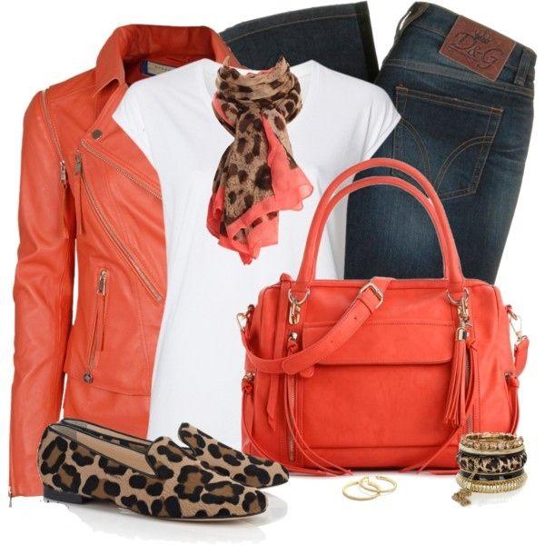 Women Over 40 Outfits - V-Neck Tee, Biker Jacket, Slimmy Dark Blue Denim Jeans…