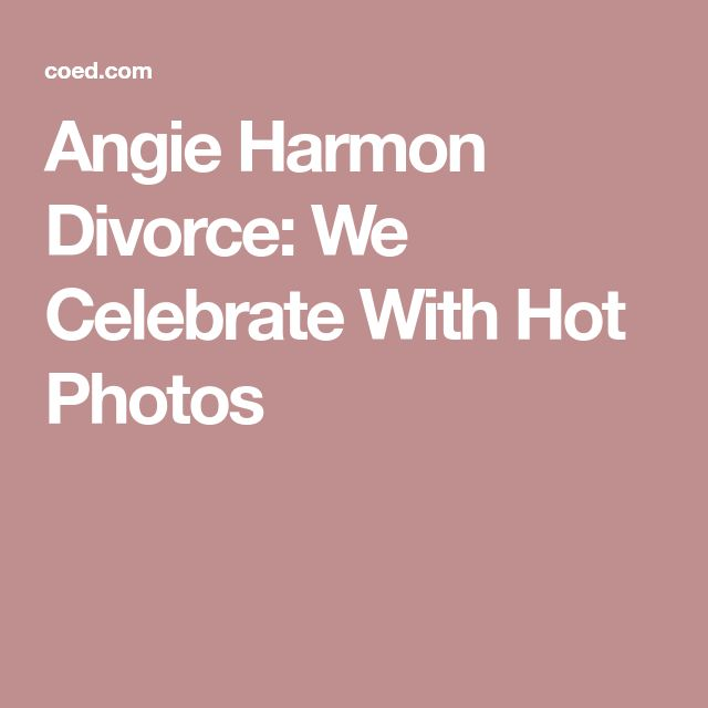 Angie Harmon Divorce: We Celebrate With Hot Photos
