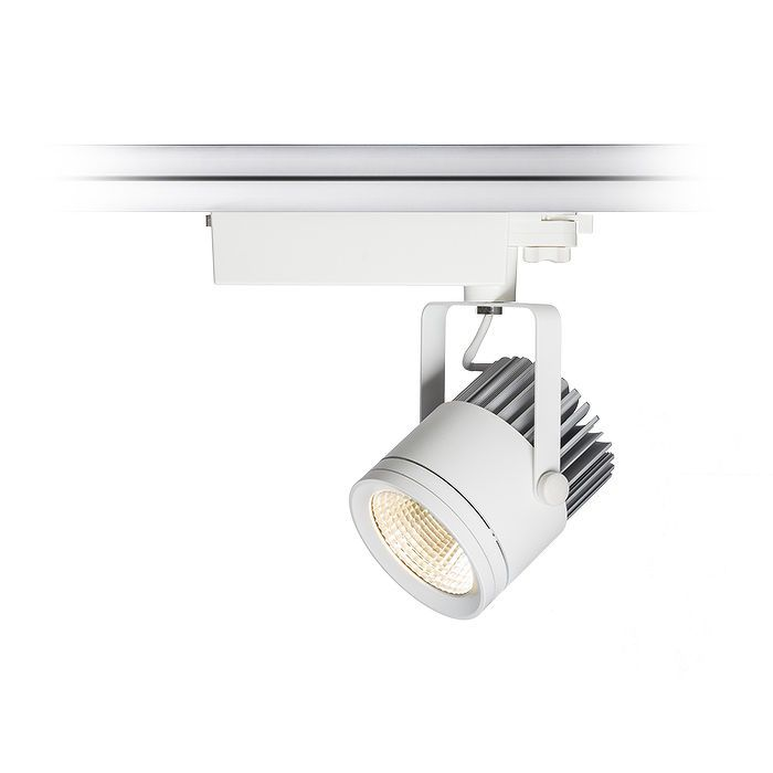 CANDID | rendl light studio | Spotlight for 3-phase tracks. The fixture has an integrated 30W LED light source. #lighting #systems #interior #LED