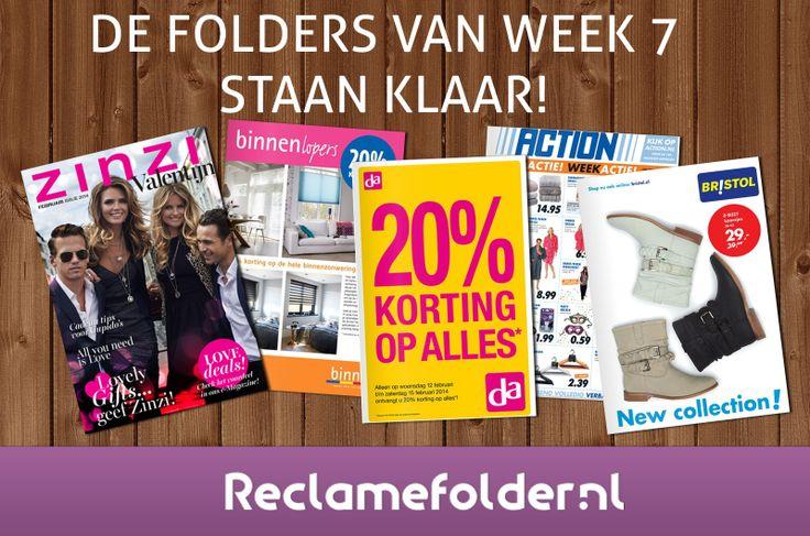 De nieuwe folders staan weer klaar. Bekijk de folders via Reclamefolder.nl of download onze app.