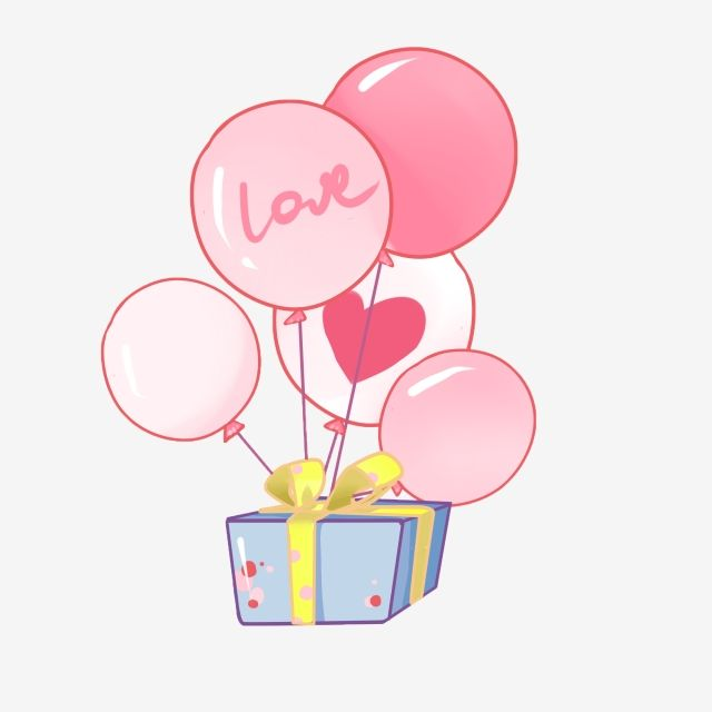 Love Balloon Pink Balloon With Gift Beautiful Gift Box Love Balloon Pink Balloon Png Transparent Clipart Image And Psd File For Free Download Balloon Illustration Love Balloon Cartoon Clip Art