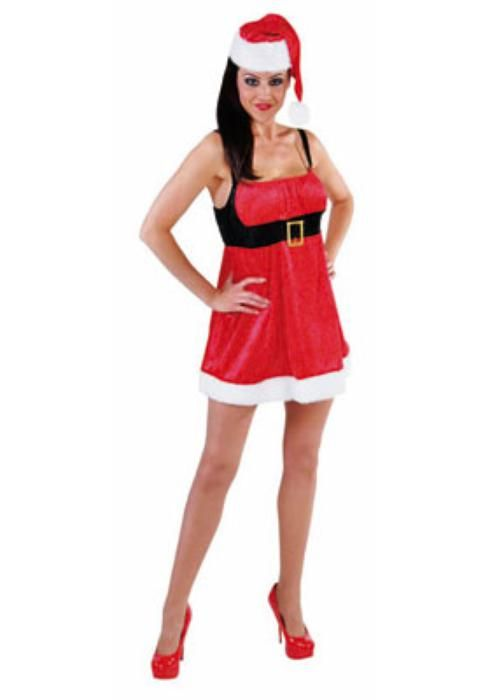 Sexy santa dress with Hat - Las Fiestas