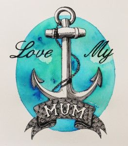 Love my Mum, A4, (210x297mm)