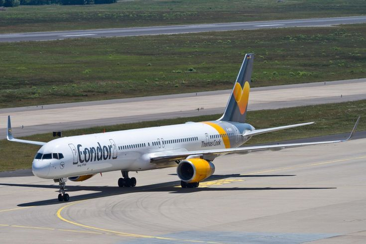 Condor Boeing 757-330 (registered D-ABOC) taxiing at Cologne-Bonn International Airport (CGN/EDDK), Germany, 05/06/2015