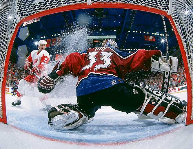 Patrick Roy of the Colorado Avalanche