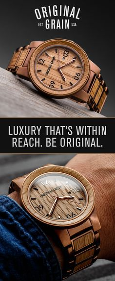 The perfect combination of style and originality. Our watches are made with high quality stainless steel and the finest exotic hardwoods from around the world. Free Shipping Worldwide!