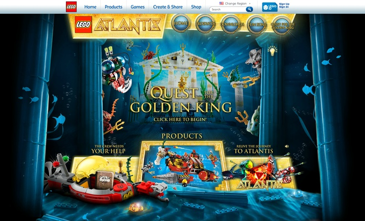 Theme: Unexpected & Thoughtful. Lego website. They didn't have to make their site so entertaining as if you were playing a game and the characters are moving around, but they did.