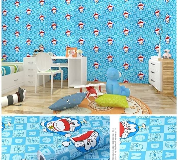 Wallpaper Dinding Kamar 3d Doraemon