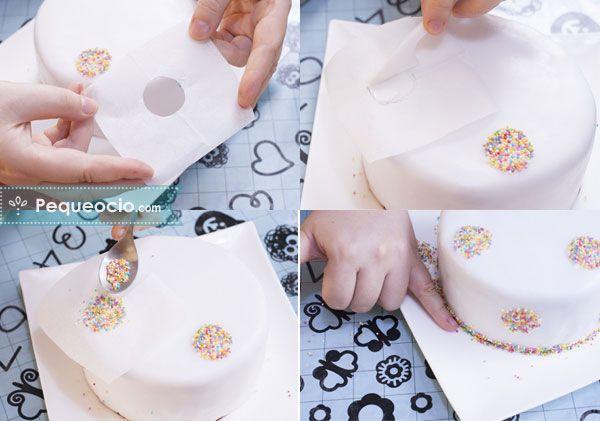 decoracion tarta fondant