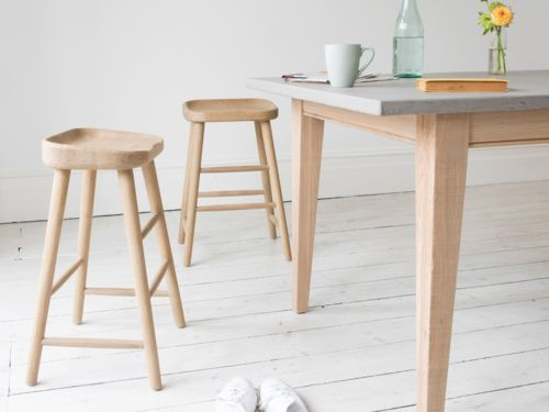 These solid oak wooden kitchen and bar stools are the perfect perch for your home.
