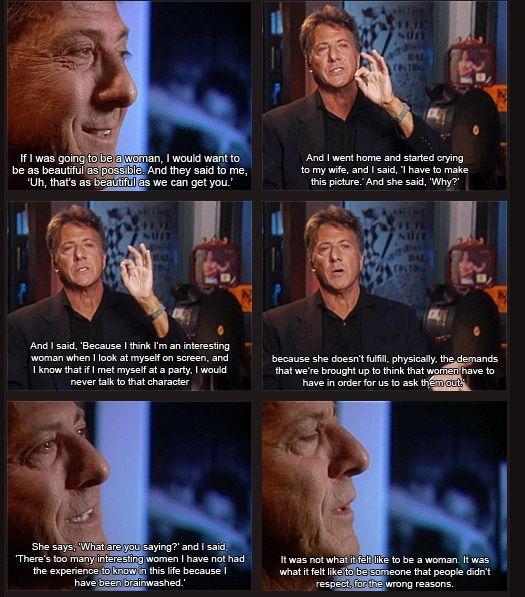 Dustin Hoffman on Tootsie Movie - love him! He is amazing