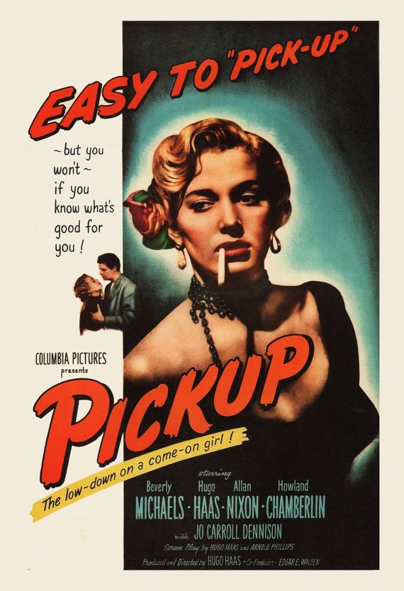 CLASSIC MOVIE POSTER Pickup Movie Poster by ArtDecoGallery
