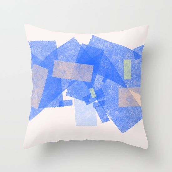 Color Geometry II Throw Pillow