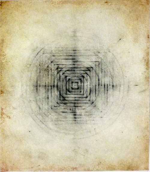 "jaume-pinya: ""Eart/sky"" #7 2005 Graphite, oil on paper 9""..."
