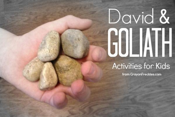 David  Goliath Bible preschool activities from CrayonFreckles.com #SundaySchool #bible lessons