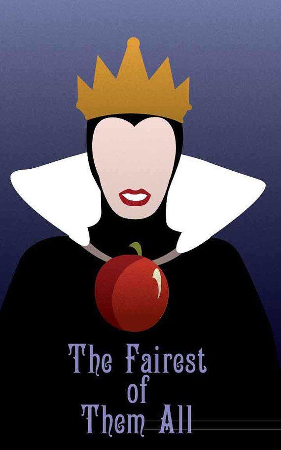 Evil Queen - Snow White / Disney Villains Inspired - Movie Poster Art