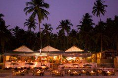 Cuba Palolem Beach Bungalows - View of the restaurant of Cuba palolem from palolem beach,Goa -