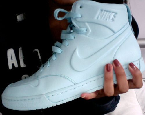 Baby Blue Nike High Tops