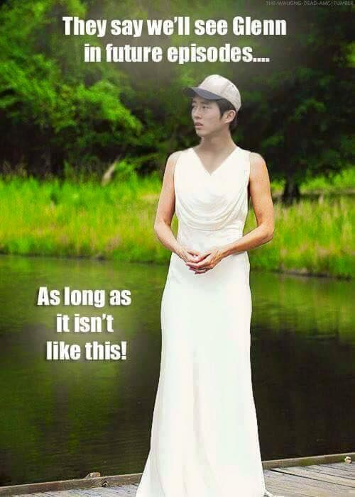 Omg I was actually thinking about Glenn flashbacks in the future then I thought of Lori and this popped in my head xD I'm crying!!!