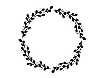 wreath svg dxf file instant download silhouette cameo