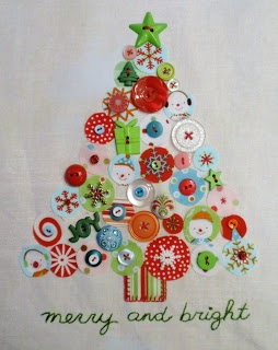 Stitches and Buttons Christmas Tree by elsie's girl. A great idea for a quilted project.