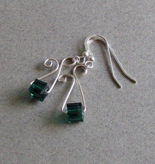 geometric wirework earrings
