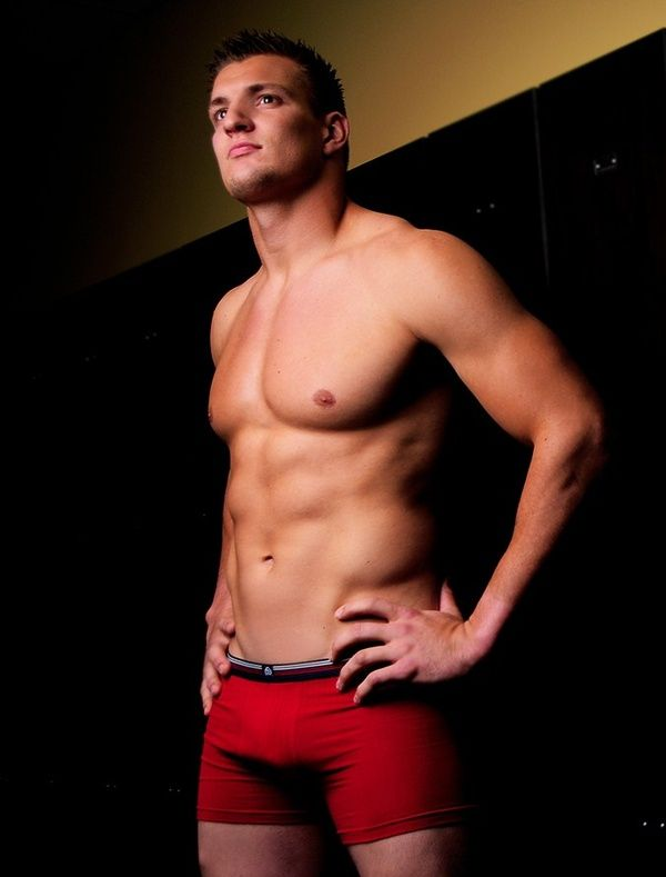 Just a little distraction from Deflate Gate!  Rob Gronkowski. He gives me eternal-college-frat-boy vibes but his body is insane.