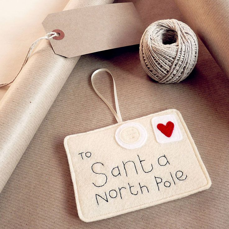 83 best elf mail ideas images on pinterest christmas crafts felt letter to santa christmas decoration by be good darcey notonthehighstreet spiritdancerdesigns Image collections