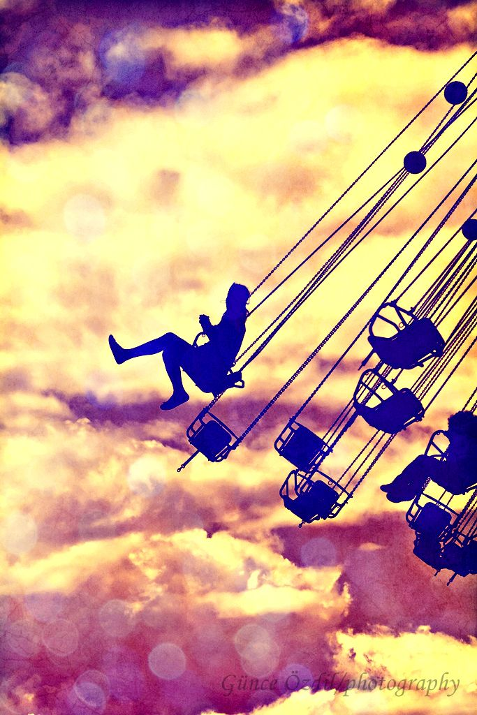 there is nothing i love more in the entire world than feeling of the chilly fall wind in your face while riding the swings at the fair.: Picture, Photos, Amusement Park, Dream, Swings, Art, Summer, Things, Photography