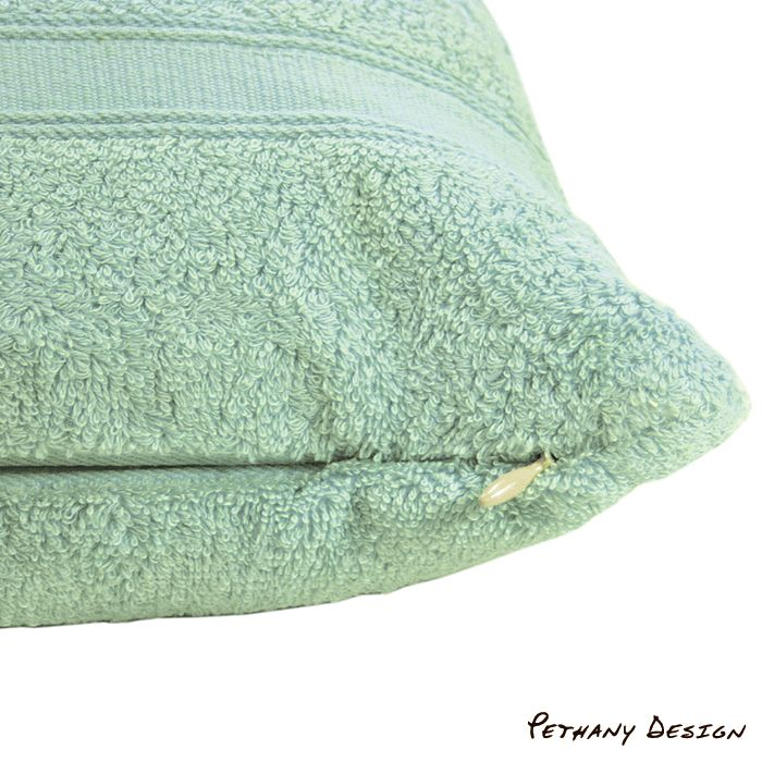 [ Towel Nap Pillow ] Material: Cotton, Zipper. Designed in 2006 for Pethany+Larsen. Made in Taiwan.