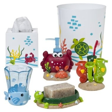 Bath accessories big boy room under the sea for Sea bathroom set