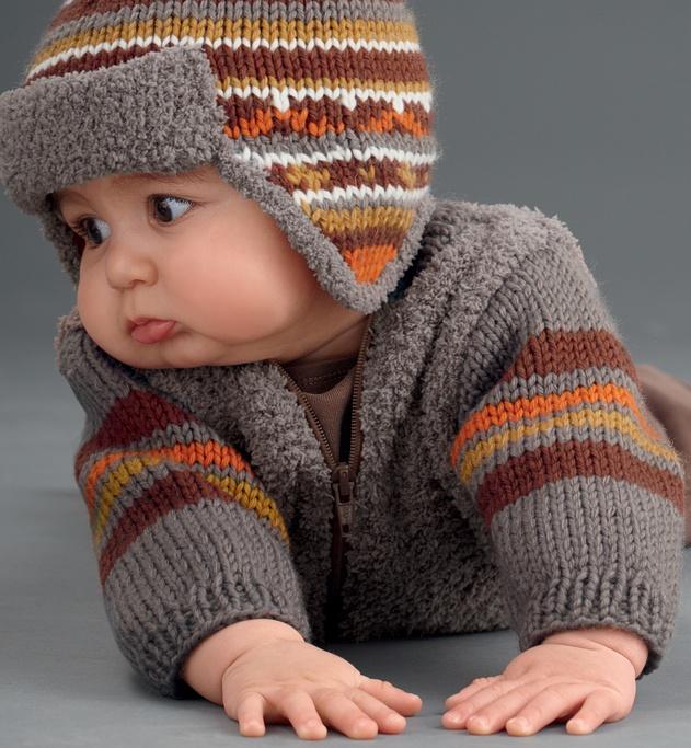 Modèle blouson bébé - Modèles Layette - Phildar