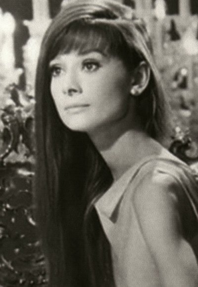 Audrey Hepburn with long hair ~Just gorgeous!