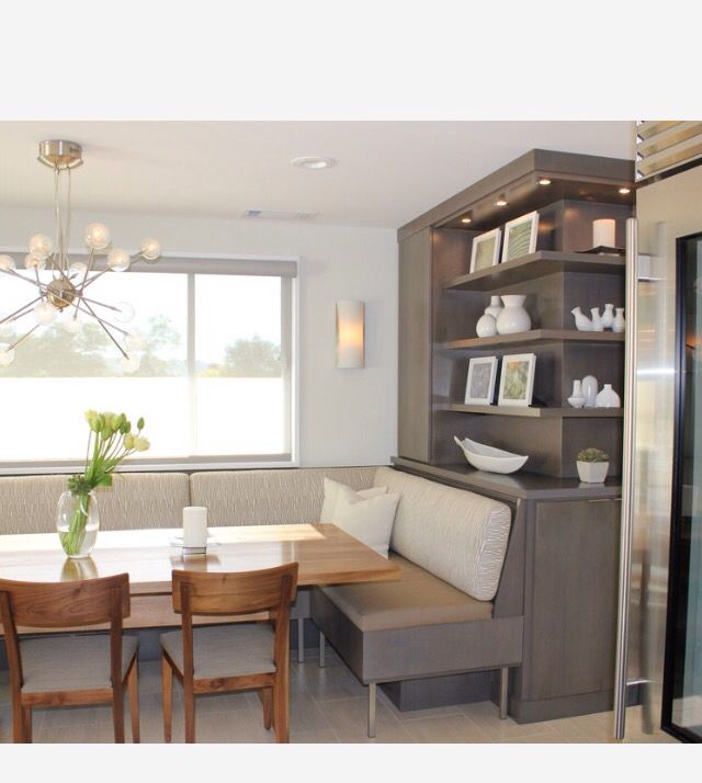 Banquette With Built In Shelving