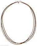 N1833 Leather and Sterling Silver Necklace (by Silpada Designs)