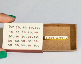 Thank you Card You're so sweet Matchbox / Gretting от 3XUdesign