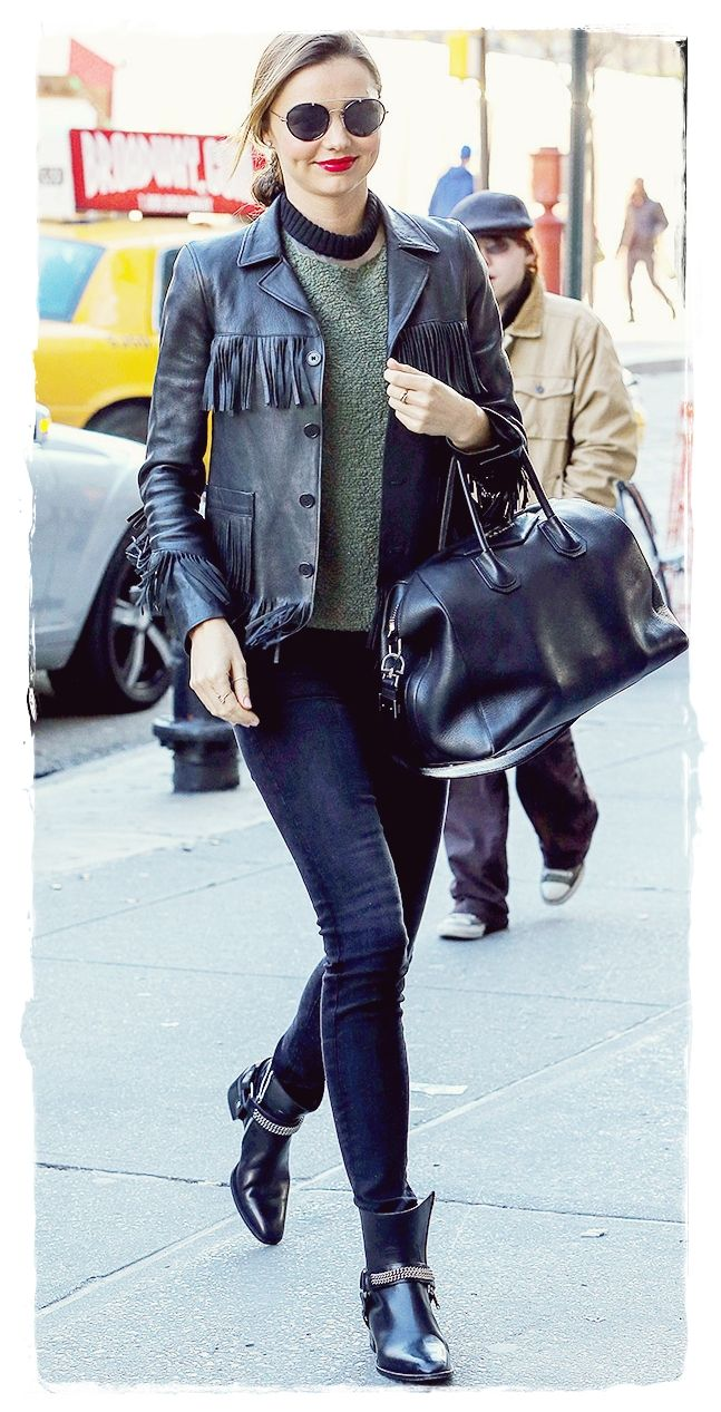 #Miranda #Kerr Brings Back The Fringe Jacket