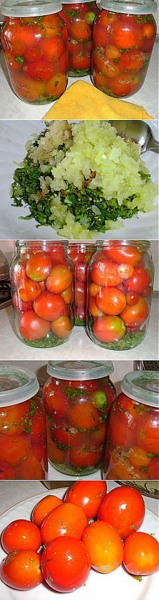Маринованные помидоры в особом маринаде, с необыкновенным вкусом   Рецепты моей мамы