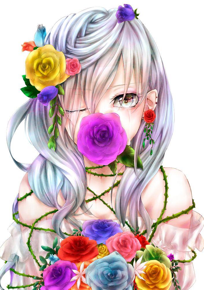anime girl art Flores by KillerJeff234 on deviantART