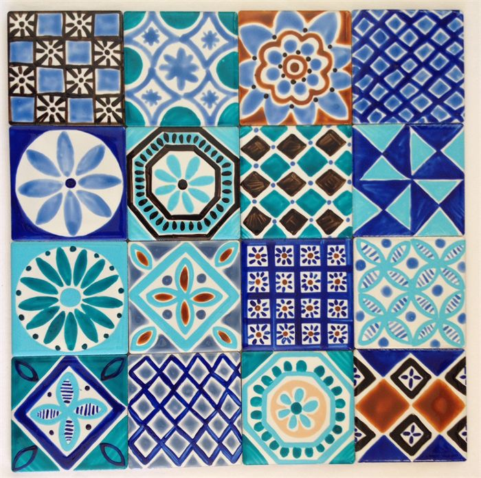 Moroccan Inspired Hand Painted Ceramic Tiles For Splashback