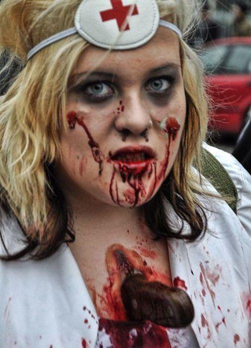 maquillaje zombie realista