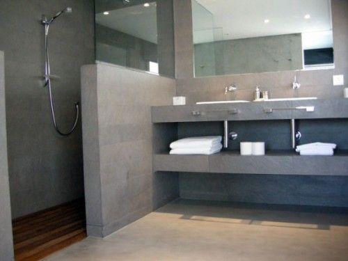Bachas Para Baño Puerto De Frutos:baño cemento alisado more baths baños microcemento baño cemento el