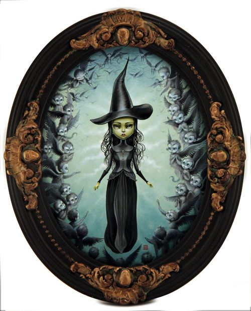 Mab Graves - Artwork - Elphaba and the Flying Monkeys - Nucleus | Art Gallery and Store