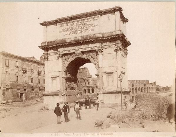 Arco di Tito, <1901 - Arch of Titus, <1901